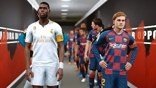 Barcelona vs Real Madrid ft Neymar , Griezmann , Hazard , Pogba | PES 2019