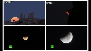 Spectacular! Blood moon takes over night sky around the world
