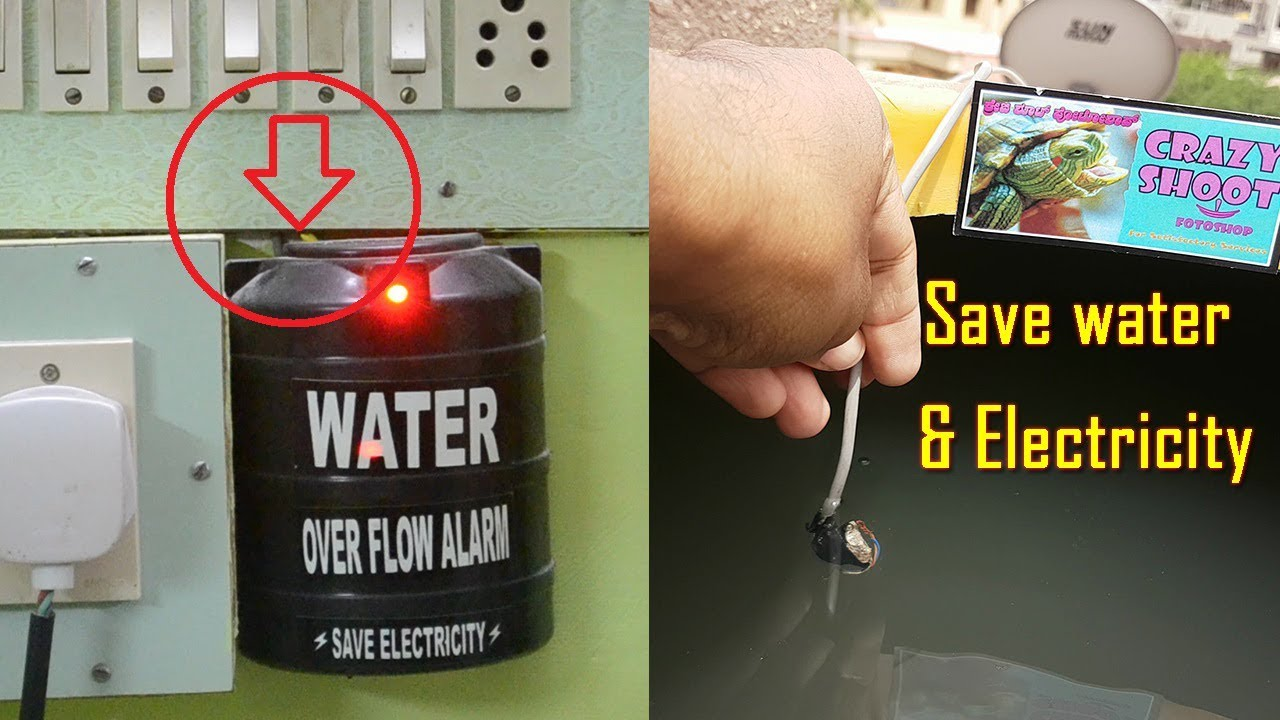 how to install water tank overflow alarm level indicator and buzzer voice warning sound for home [ 1280 x 720 Pixel ]