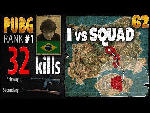 [Eng Sub] PUBG Rank 1 - Tecnosh 32 kills [NA] Solo vs SQUAD - PLAYERUNKNOWN'S BATTLEGROUNDS #62