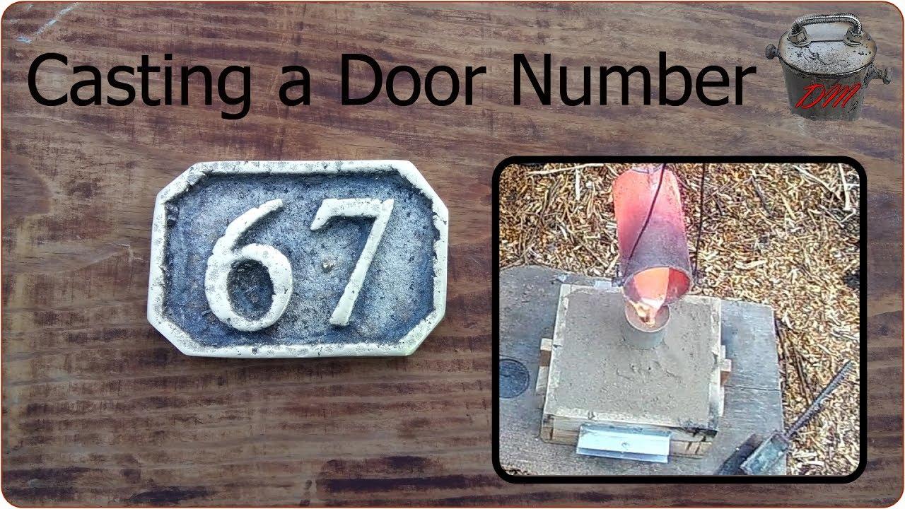 Cast Brass Door Number Lost Foam Casting Youtube