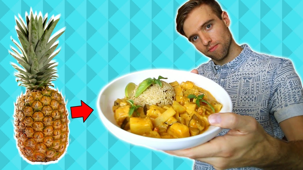 Thai Coconut Curry Recipe made with a Whole PINEAPPLE!
