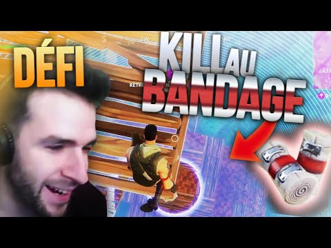 🥇 DÉFI WTF : KILL AU BANDAGE + BASE DANS LE CIEL ! Top1 Fortnite Skyyart fr