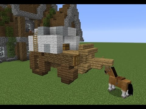 Building with grian horse cart youtube for How to build a carriage