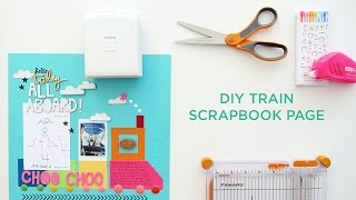 DIY Train Paper Project + Free Printable