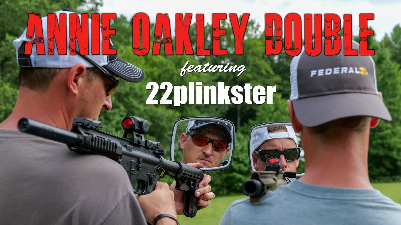 Double .22lr Annie Oakley Clay Snipe ft 22Plinkster | Gould Brothers