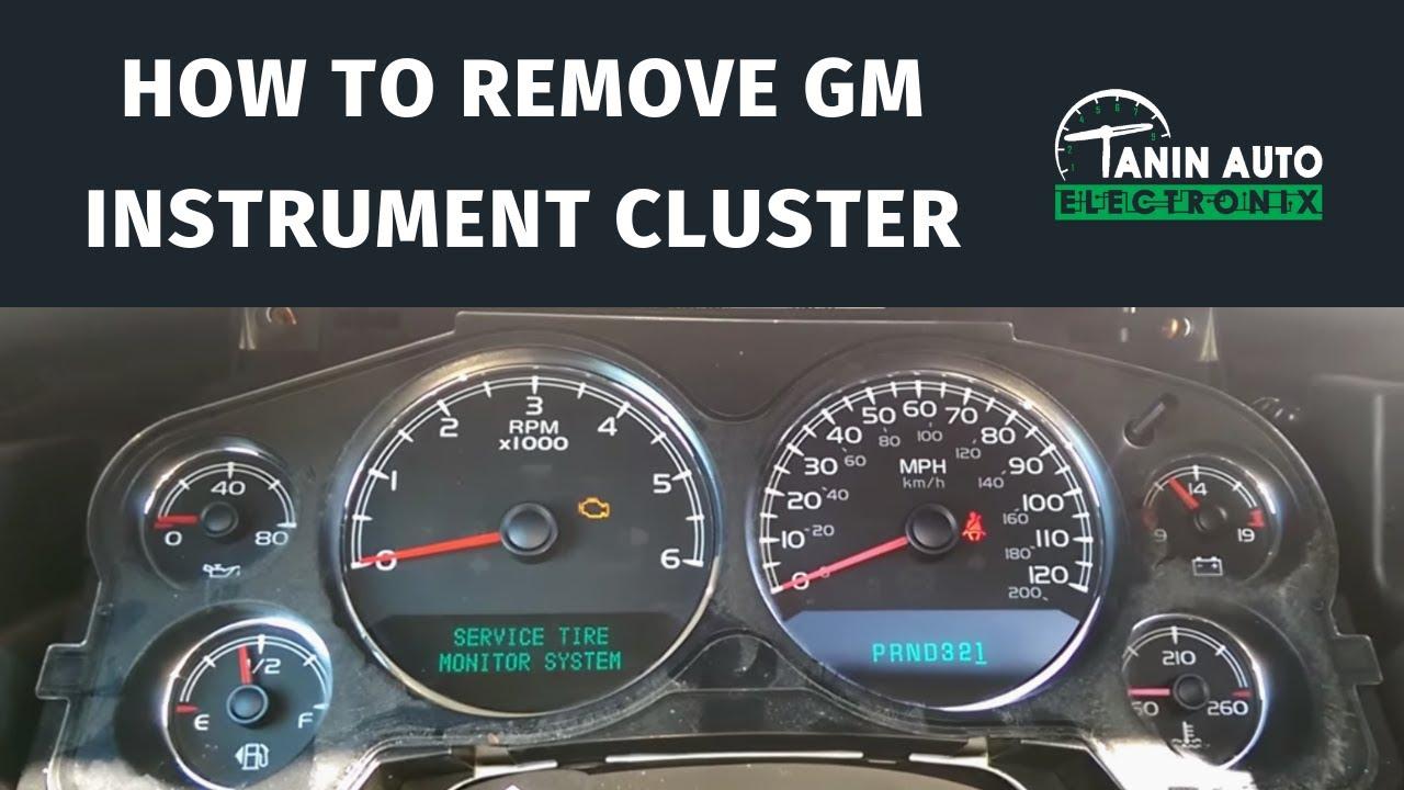small resolution of 2007 2014 chevy tahoe silverado suburban gmc sierra yukon speedometer removal youtube
