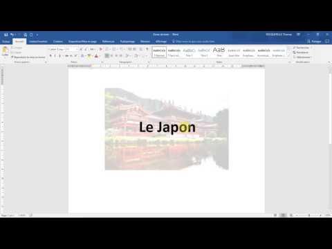 Les zones de texte (Cours Word 2016) - couleur, fond, bordures, effets 3D...