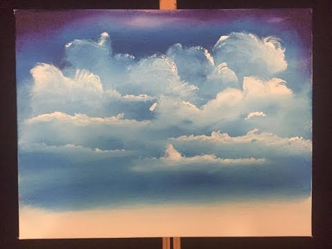 #56. how to paint easy clouds (acrylic)