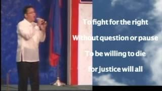 Impossible Dream sang by Delgado, a filipino singer