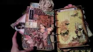 Yorkie Dreamz - Vintage Altered Journal Mixed Media Clipboard Album