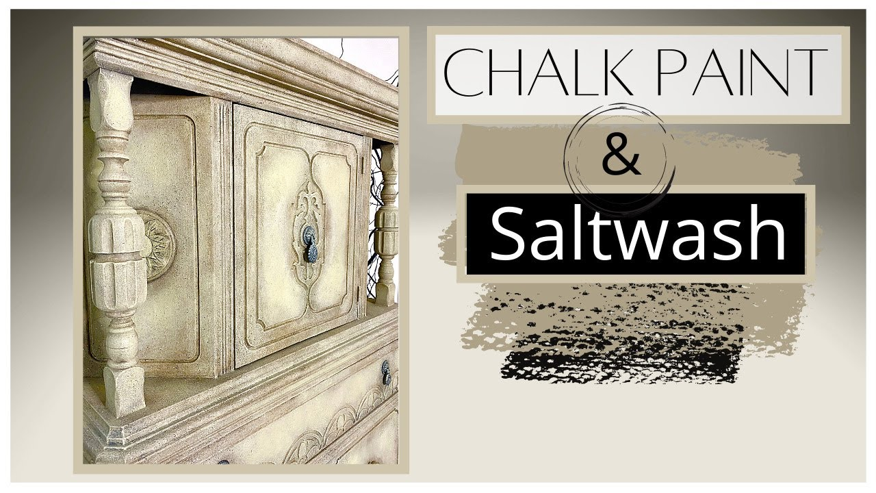 Saltwash Stone Effect with Chalk Paint | Clear Glaze and Custom colour wax