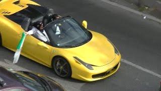 Cortège mariage (algerien) de fou :Ferrari,Rolls-Royce,Lamborghini,Porsche,Limousine...