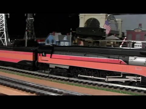 MTH Premier SP Daylight GS-2 & GS-4 O-Gauge Steam Locomotives Double-Headed in True HD 1080p