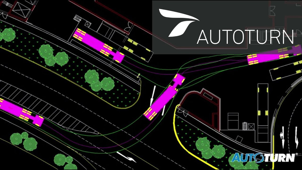 Autoturn swept path analysis software youtube for Vehicle swept path templates