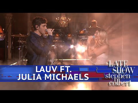Kim Faris  - Lauv & Julia Michaels on The Late Show
