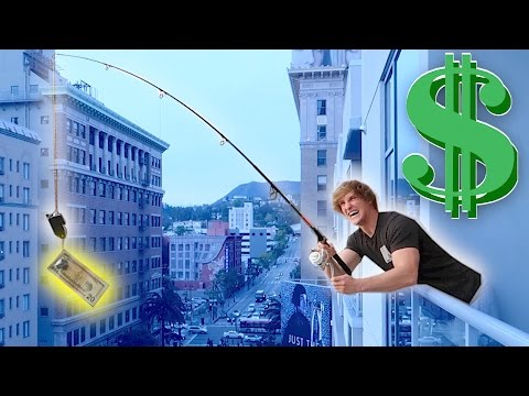 Thumbnail: FISHING FOR PEOPLE OFF MY BALCONY! (**Money Bait**)
