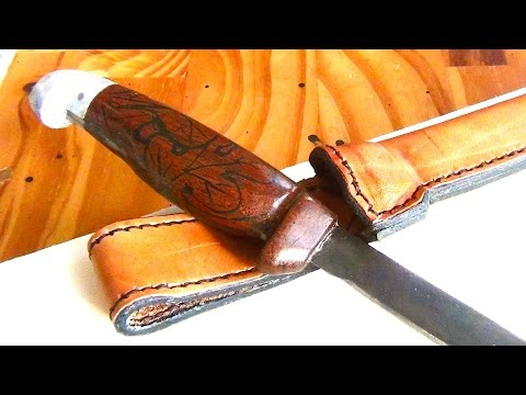 Project 13: Making an Epoxy Inlay Walnut Knife Handle and a Leather Sheath for An Ye Olde Knife