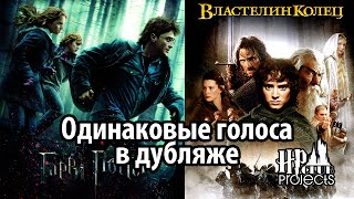 Одинаковые голоса в дубляже: Гарри Поттер и Властелин Колец