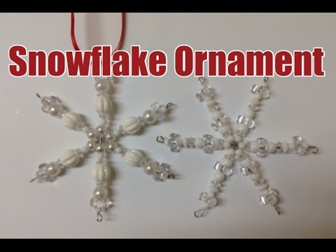 Make a Beautiful Beaded Snowflake Ornament