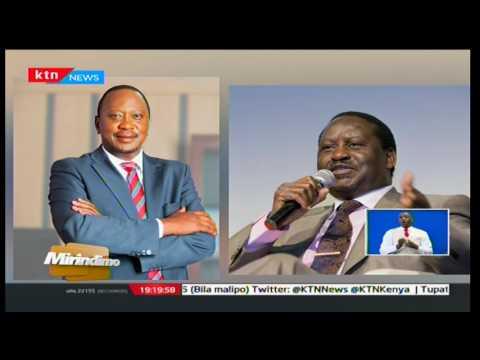 Kicheko cha rais Uhuru Kenyatta huku kinara wa NASA Raila Odinga akibatizwa jina Joshua: Mirindimo