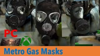 Metro gas masks by nutulatorxbox one:https://bethesda.net/en/mods/fallout4/mod-detail/4054879pc:https://www.nexusmods.com/fallout4/mods/26378thanks for watch...