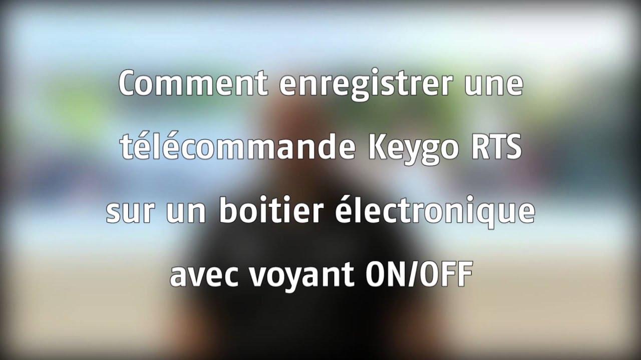 comment ajouter une t l commande keygo rts sur une motorisation de portail sga youtube. Black Bedroom Furniture Sets. Home Design Ideas