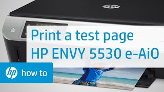 Printing a Test Page - HP ENVY 5530 e-All-in-One Printer