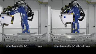 "TRUMPF Fokussieroptiken: Intelligente PFO (I-PFO) Schweißen ""on-the-fly"" mit Yaskawa-Roboter"