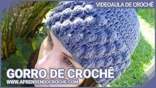 Repeat youtube video Gorro Croche Glamour - Aprendendo Crochê