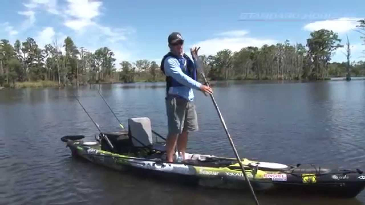 tips for standing on a fishing kayak youtube