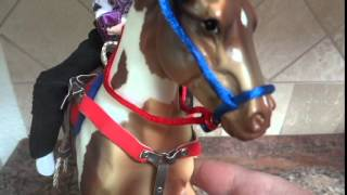 Breyer Horse Close Look at Cosmic One, Paint Horse bay, and Lets go Racing set