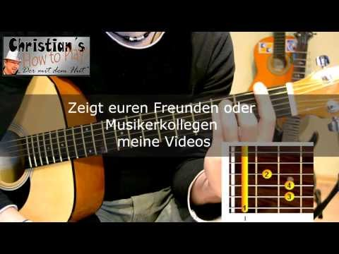 How to Play Y-TITTY DER LETZTE SOMMER Tabs Akkorde Akustik Gitarre lernen Tutorial [HD] Deutsch