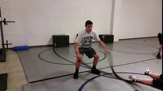 1MCM Battle Ropes—Inside Circle Whips