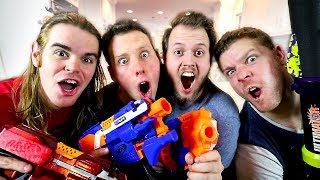WHAT IS YOUR FAVORITE NERF GUN?! (Q&A with Aaron, Drac, Mike, and Josh = Nerf House)