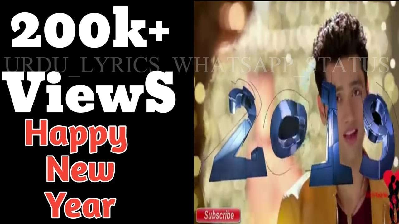 Happy New Year Alone Couple With Romantic Song Whatsapp Status