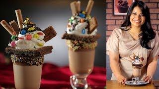 Chocolate Brownie Freakshake Recipe | How To Make Chocolate Freakshake By Kamini | Dessert Recipe