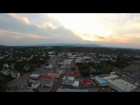 View of Front Royal, VA from a drone.