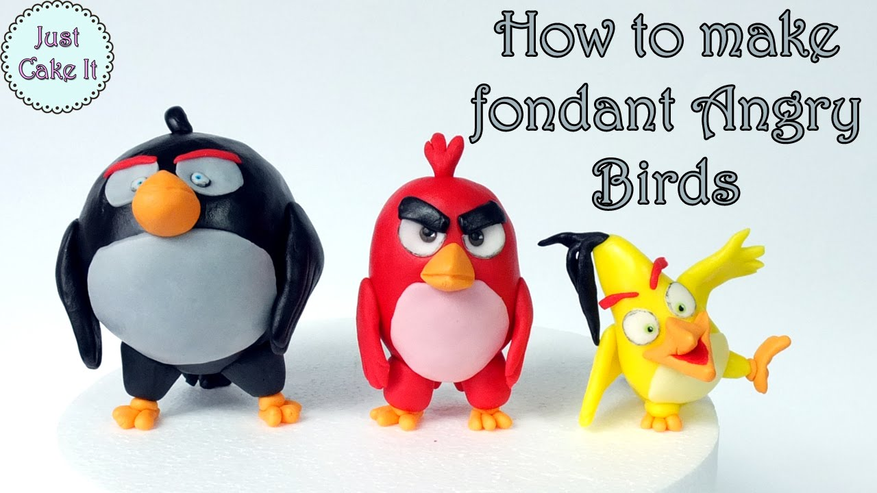 How To Make Angry Birds Cake With Fondant
