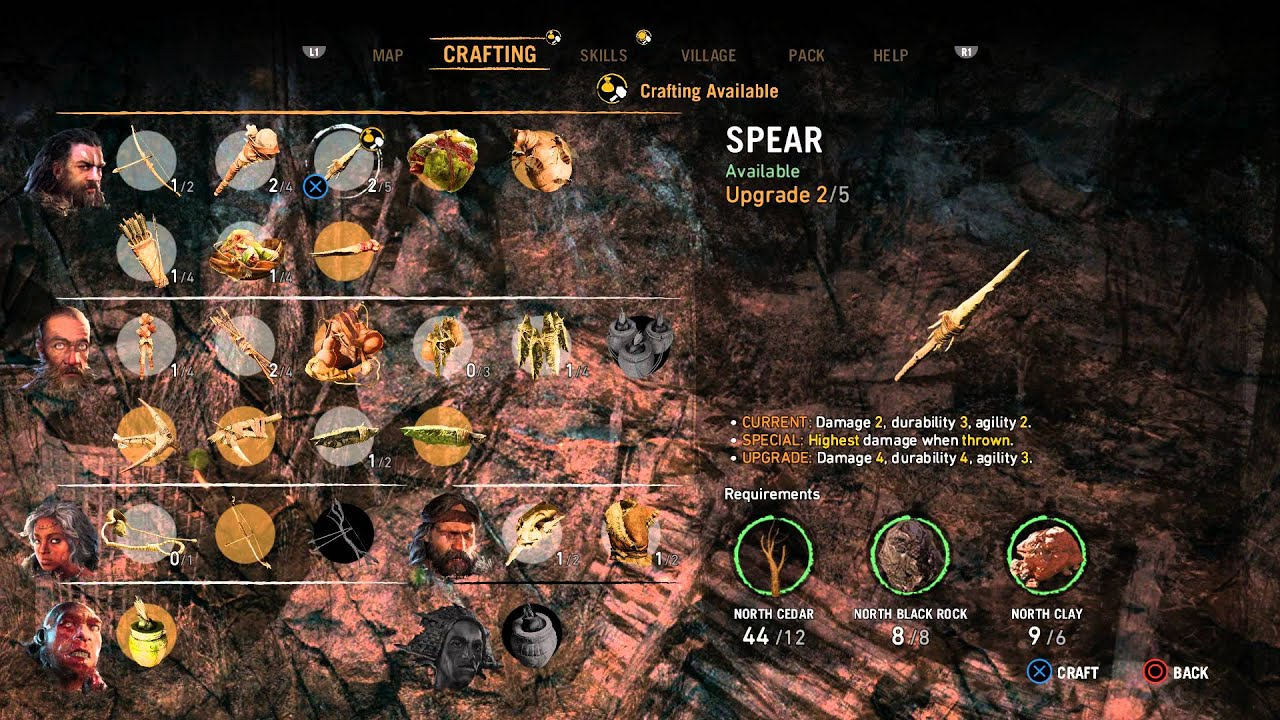 Far cry primal spear upgrade level 2 gameplay information far cry primal spear upgrade level 2 gameplay information materials details playstation 4 gumiabroncs Gallery