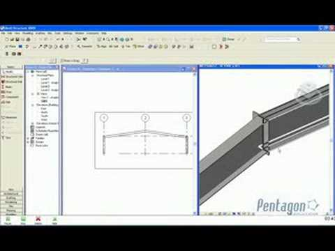 Creating a portal Frame in Revit Structure - YouTube