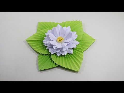 DIY - How to Make Most Beautiful Lotus/ Water Lily With Paper | Easy Paper Craft