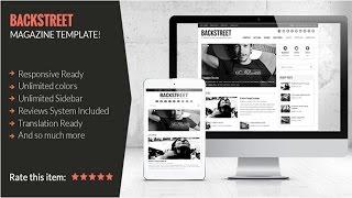 Backstreet Wordpress Theme Review & Demo | Blog & Magazine Theme | Backstreet Price & How to Install