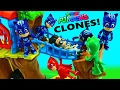 PJ Masks 4 CATBOYS!!! New PJ Masks Toy Episode Romeo's Duplication & Weebles Treehouse DisneyCarToys