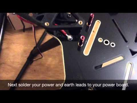 Build your own drone part 2, Thunder S550 kit, Hexacopter Apm 2 6 flight  controller, motors & esc