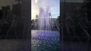 Beautiful fountain in Las Vegas