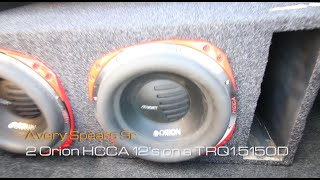 2 orion hcca 12 s on a planet audio torque trq1 5150d