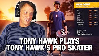 Is Tony Hawk Actually Good At His Own Game?? | Tony Hawk Plays Tony Hawk's Pro Skater 1+2
