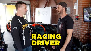 Racing Driver takes out my car (He's FAST)