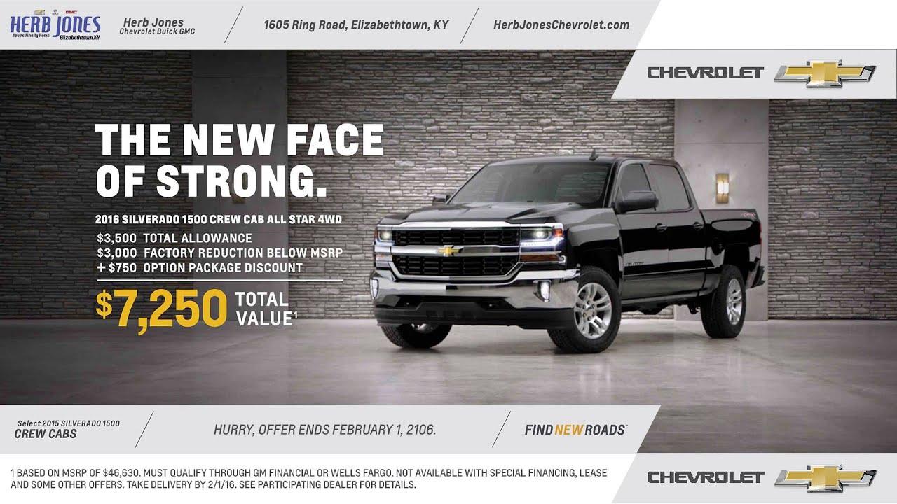 Herb Jones Chevrolet January 2016 Commercial Youtube